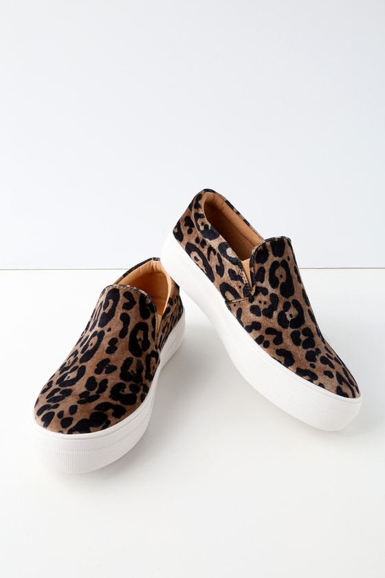 0fe9b17f0f0 Steve Madden Gills - Leopard Print Sneakers - Slip-On Shoes