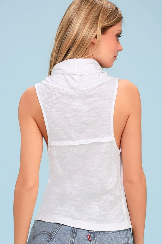 vast selection cheap sale cheap for discount Free People Summer Thing - White Tank Top - Cowl Neck Top