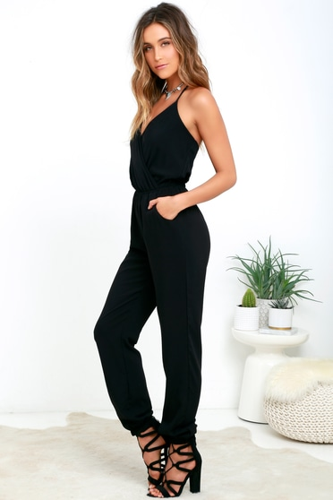 271b033f5c4e Cute Black Jumpsuit - Sleeveless Jumpsuit