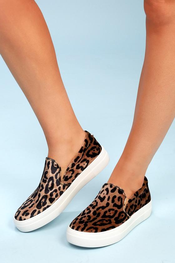 ef8af500eb7 Steve Madden Gills - Leopard Print Sneakers - Slip-On Shoes