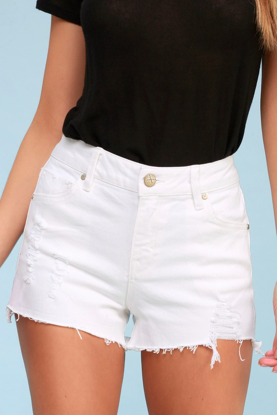 48d7dfd093 Unpublished Stella - White Shorts - Distressed Shorts
