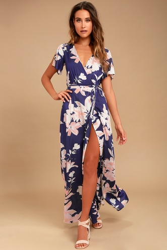 be5b147b27a Shop Short or Long Wrap Dress in the Latest Style for Less