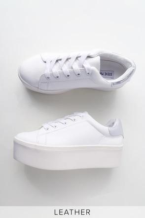 513f9579cec Steve Madden Palmer - White Sneakers - Platform Sneakers