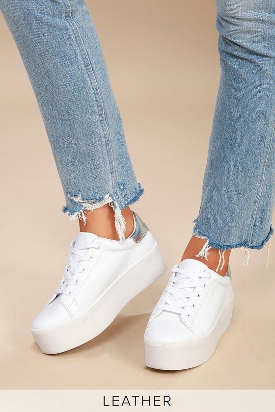 c3c13deb958 Steve Madden Palmer - White Sneakers - Platform Sneakers