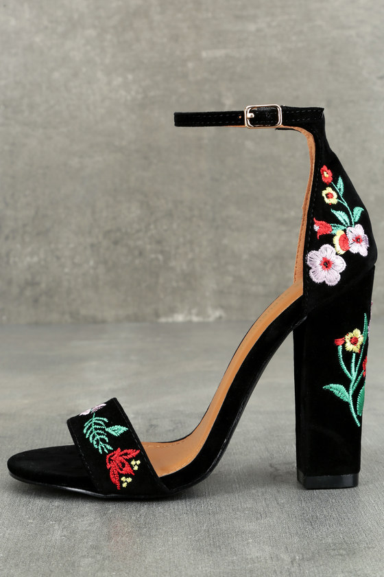 Adelaide by Joy Proctor Flower Embroidered Mary Jane Pumps – Bella Belle  Shoes