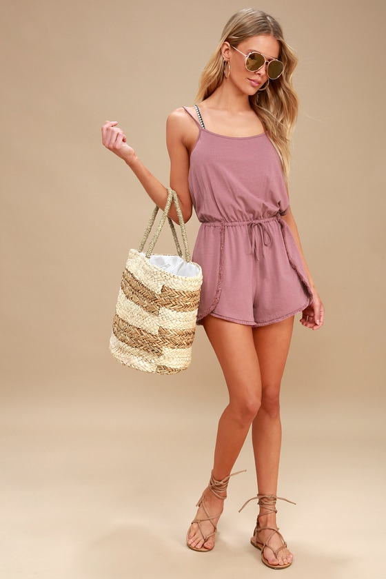 Minorca Washed Mauve Romper by Lulus