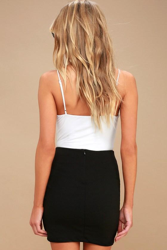 aba07cdbd1 Chic Black Skirt - Mini Skirt - Knit Skirt