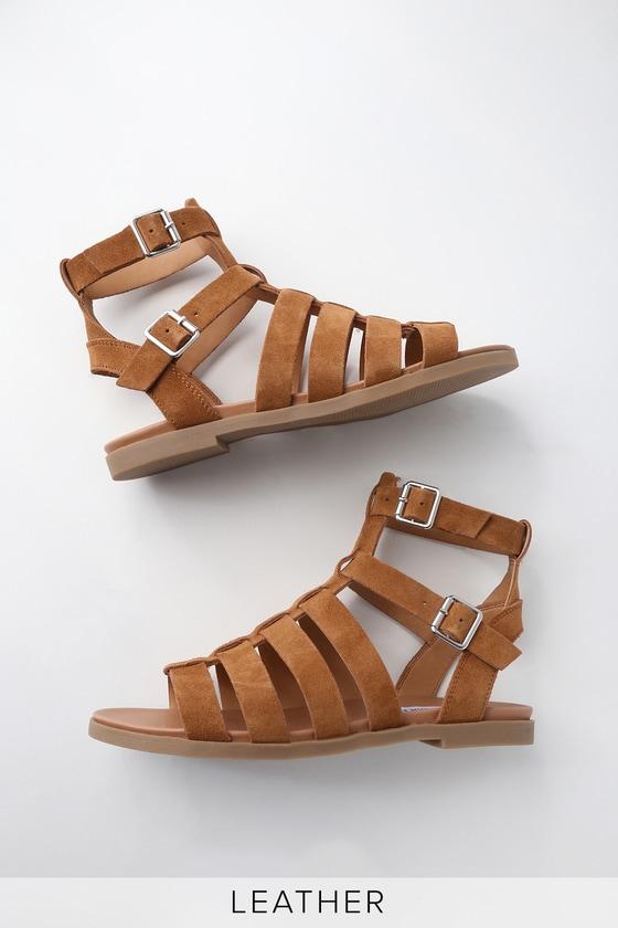 6aeef5b0ff4 Steve Madden Diego - Brown Gladiator Sandals - Suede Sandals
