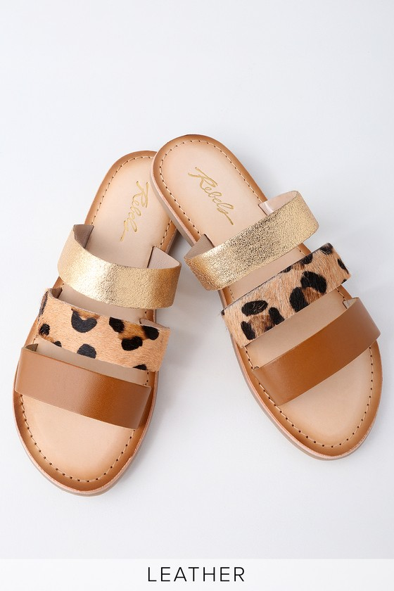 Lulus My Girl Natural Leopard Suede Mules - Lulus