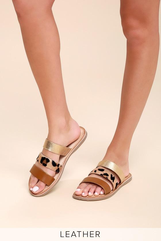 a62aab1aa6cd Rebels Jaylen - Leather Slide Sandals - Strappy Slides