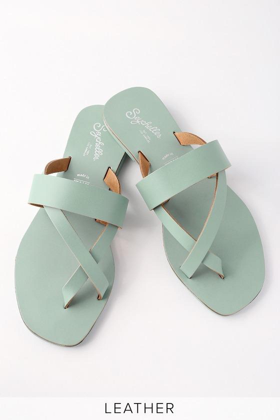 4a61584a278e Seychelles Destiny - Cute Flat Sandals - Seafoam Sandals
