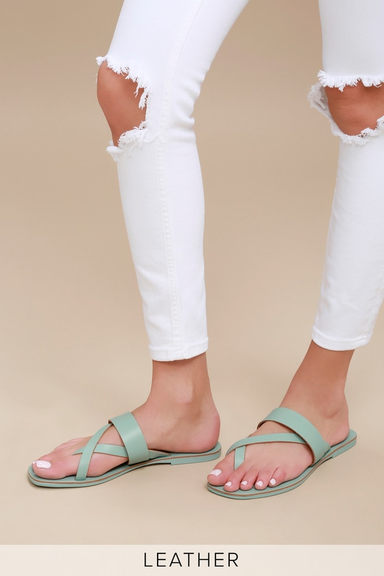 1bab80176 Seychelles Destiny - Cute Flat Sandals - Seafoam Sandals