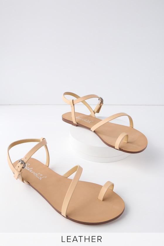d41944395bd7 Splendid Flower - Sand Flat Sandals - Toe Loop Sandals