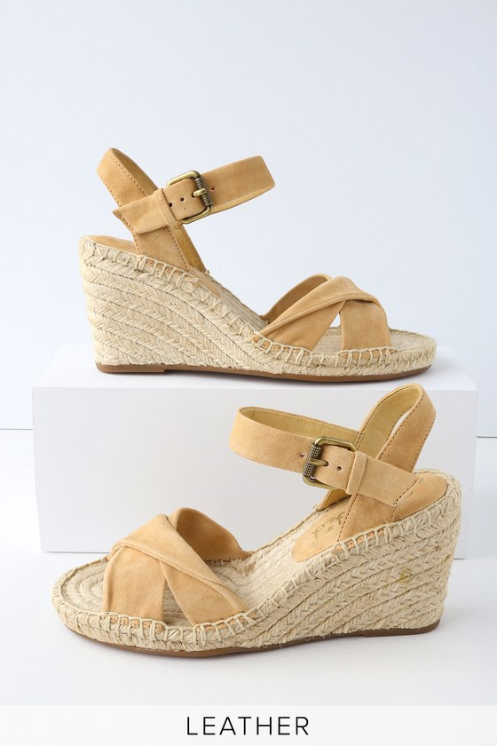 Lulus Fairfax Grey Genuine Suede Leather Espadrille Wedges - Lulus EfuYh4Xwf