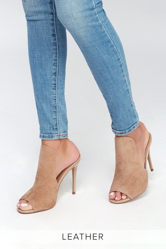 dd19169a528fb7 Steve Madden Sinful - Nude Mules - Stiletto Mules