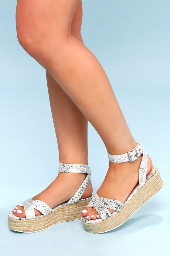 a138a0b3571 Chinese Laundry Zala - White and Silver Sandals