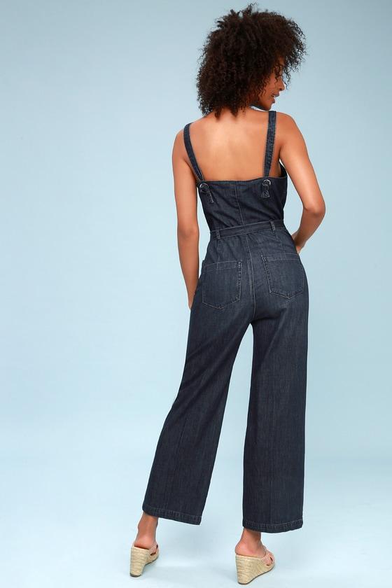 955c4a337b PAIGE Emma Jumpsuit - Denim Jumpsuit - Trendy Jumpsuit