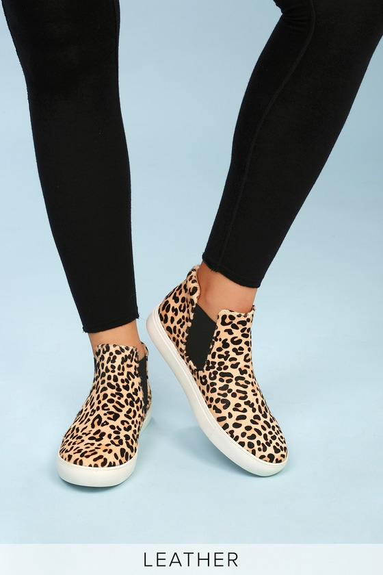 Sneakers On Top Harlan Pony Leopard High Slip Leather Fur K1l35TFcuJ