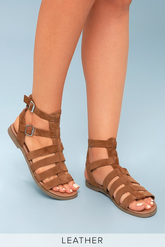 080e68fee7aea Steve Madden Diego - Brown Gladiator Sandals - Suede Sandals