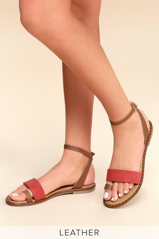3ddd8ae359296 Coconuts Sundown - Tan Leather Sandals - Flat Sandals