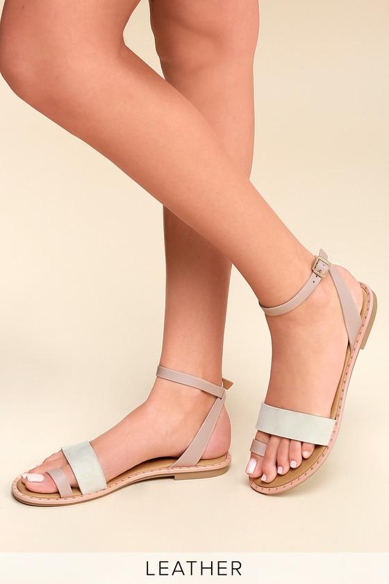 a1932d8258d9c Coconuts Sundown - Pink Leather Sandals - Flat Sandals