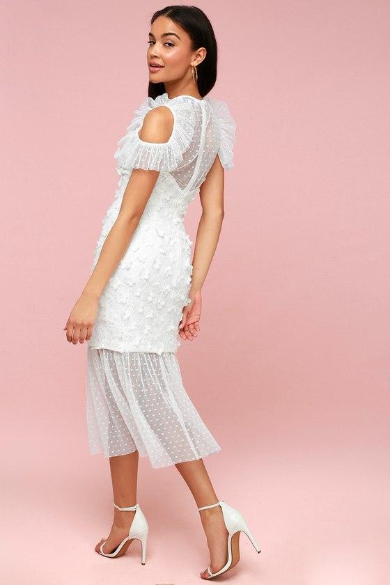 Ellliatt Oberon - White Midi Dress - Lace Midi Dress 9de121db71b6