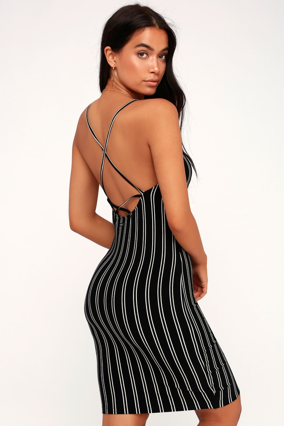 Black and white striped bodycon dress kiss yuma brands list