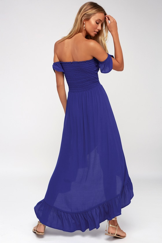 ebe9c1367fa7 Lucy Love Wild Hearts - Royal Blue Off-the-Shoulder Dress