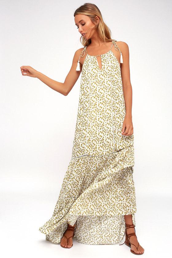 81bd857d49a Lost + Wander Prairie - Floral Print Maxi - Tie-Strap Dress