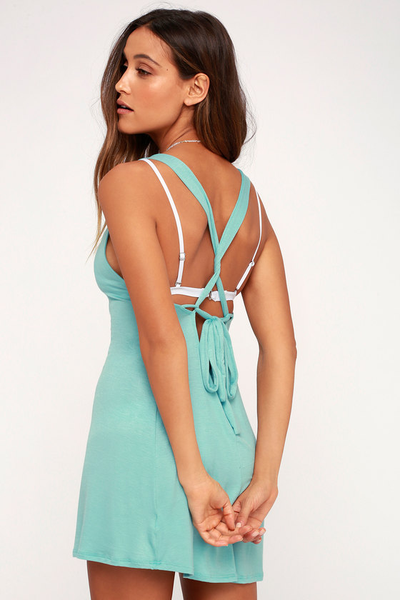Catch Your Wave Aqua Swim Cover-Up