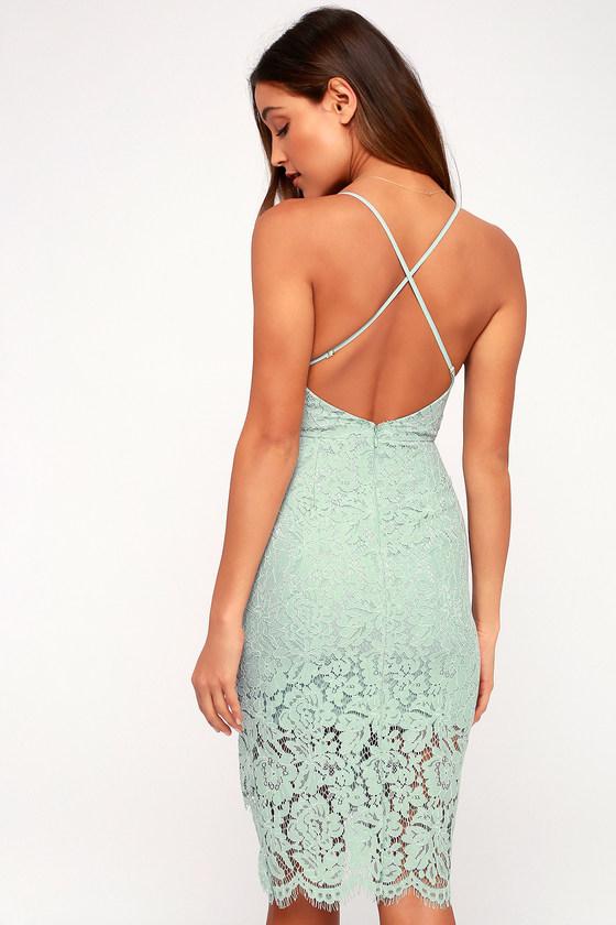 f9b03744a411 Sexy Mint Blue Lace Dress - Lace Bodycon Dress - Mint Dress