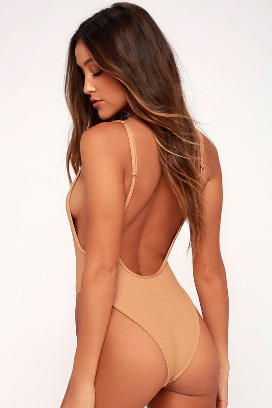 a580e1efe8 Frankies Bikinis Adele - Nude One-Piece Swimsuit