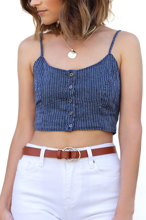 Oh Jackie Brown Double O Ring Belt by Lulus