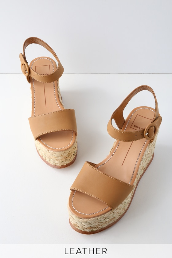 7f59c4a62aad Dolce Vita Dane - Camel Leather Platform Wedge
