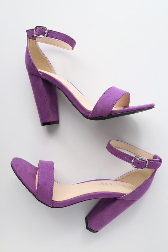 Cute Purple Heels - Ankle Strap Heels - Dress Sandals cd03c3459