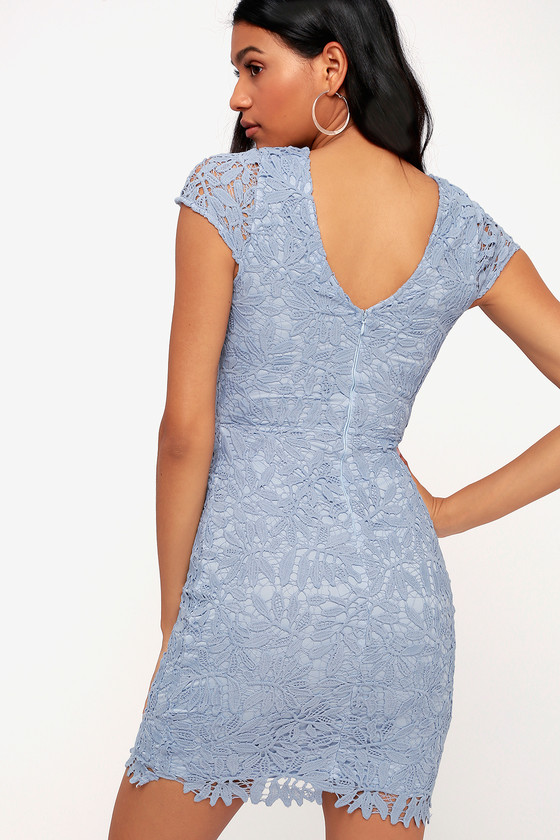 00f8dd4c295b Right Sheer, Right Now Periwinkle Blue Lace Bodycon Dress