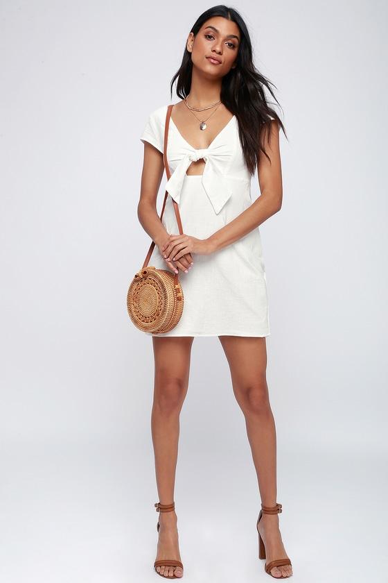 Tan Sweetheart Dress
