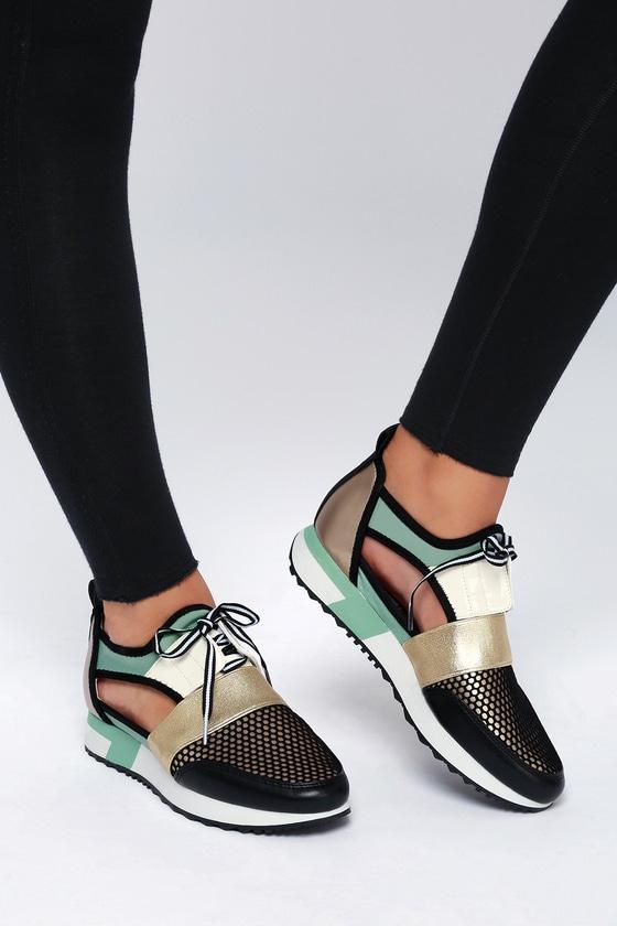 6ec52c752e6 Steve Madden Arctic - Mint Green Sneakers - Cutout Sneakers
