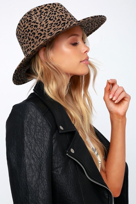 46f0b2a5d06f3 Cute Leopard Print Hat - Wool Hat - Fedora Hat - Fun Hat