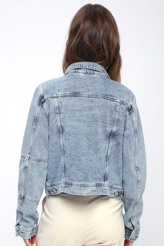 950627596dfe The Free People Rumors - Light Wash Denim Jacket - Jean Jacket