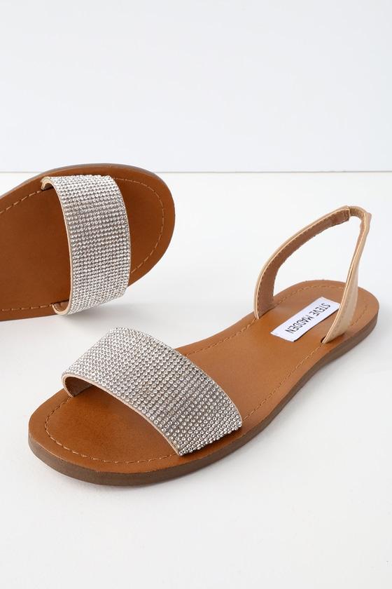 1d69a9bea08f Steve Madden Rock - Rhinestone Sandals - Slingback Sandals