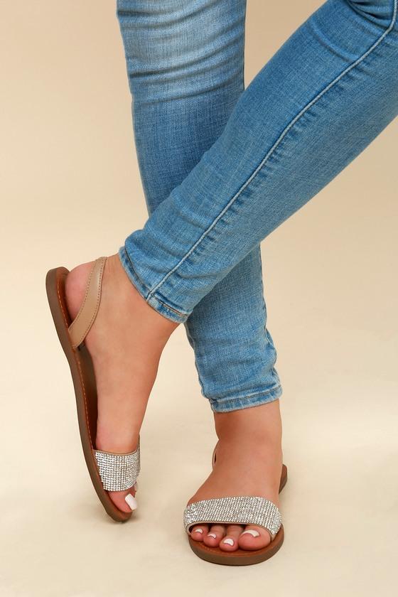 5f8f5b11875 Steve Madden Rock - Rhinestone Sandals - Slingback Sandals