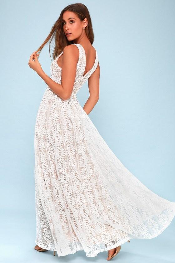 a7af1e65c361 Elegant White Maxi Dress - White Lace Dress - Bridal Dress