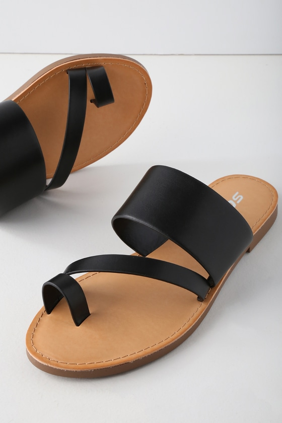 4c313b1e2 avena-black-flat-sandals by lulus