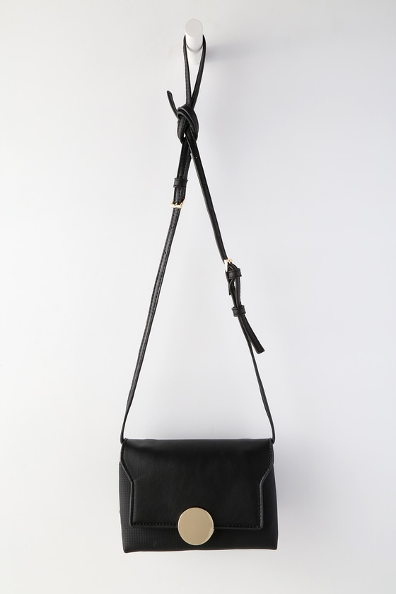 Marion Black Mini Purse by Lulus