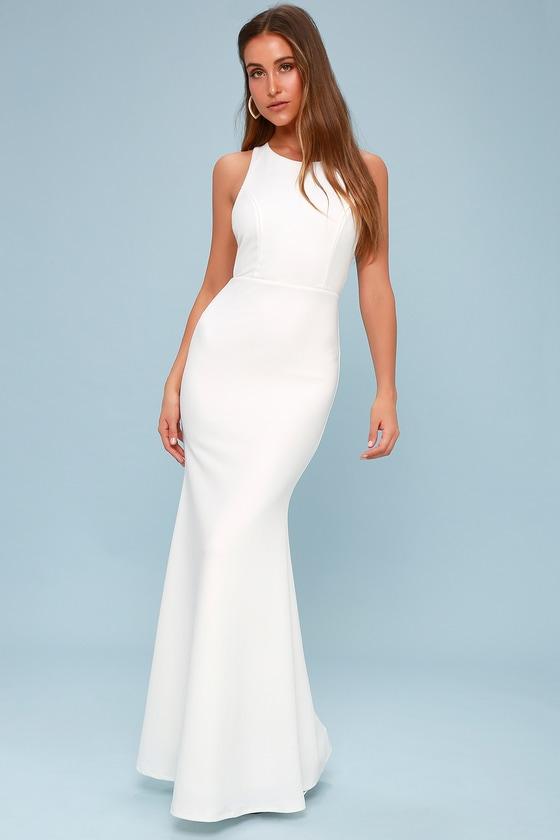 d0321925db77 Sexy White Maxi Dress - Backless Dress - Backless Maxi Dress