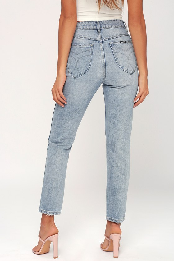 24b91656c6a Rolla's Dusters - High-Waisted Jeans - Light Wash Jeans
