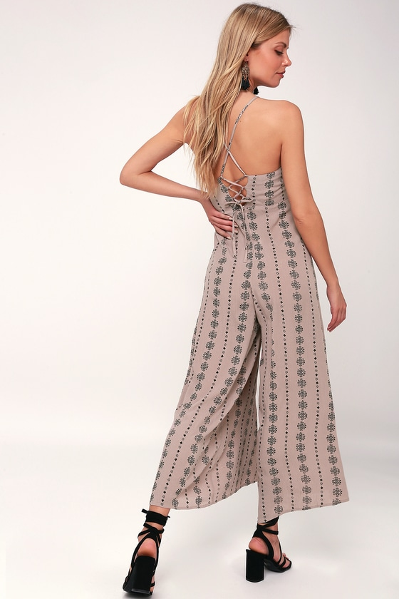 0ee418e44d4f Juls Taupe Print Jumpsuit