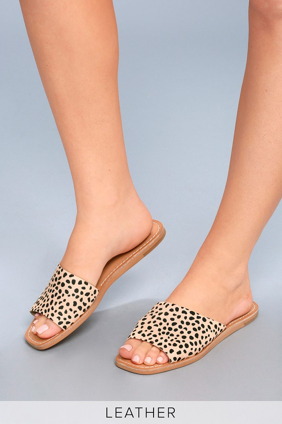 65a574262476 Dolce Vita Cato - Leopard Pony Fur Slide Sandals