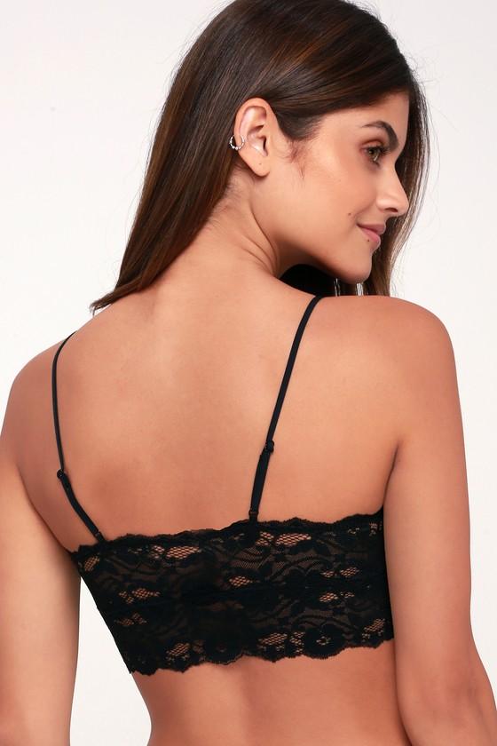 9abd6a4c63436 Sexy Lace Bralette - Back Bralette - Black Lingerie